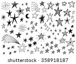 hand drawn doodle stars vector... | Shutterstock .eps vector #358918187