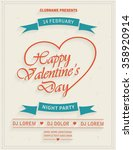 happy valentines day retro... | Shutterstock .eps vector #358920914