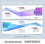 business brochure  flyer and... | Shutterstock .eps vector #358930001