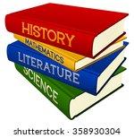 vector illustration of a stack... | Shutterstock .eps vector #358930304
