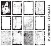 set of grunge texture frames... | Shutterstock . vector #358931681
