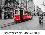 istanbul  turkey  trams passing ... | Shutterstock . vector #358937801