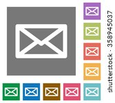 message flat icon set on color...