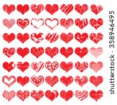 hand drawn heart shapes  icons... | Shutterstock .eps vector #358946495