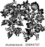 illustration with black on... | Shutterstock .eps vector #35894737
