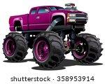 Cartoon Monster Truck....
