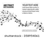 music notes on a solide white... | Shutterstock .eps vector #358954061