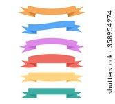 set of banners. colorful... | Shutterstock . vector #358954274