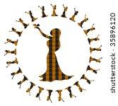 astrological symbol for virgin | Shutterstock . vector #35896120