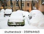 Car Under The Snow. St....