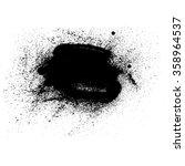 black stain  handmade vector...   Shutterstock .eps vector #358964537