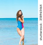 paradise portrait joy of... | Shutterstock . vector #358965464
