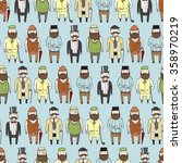 seamless pattern with cute... | Shutterstock .eps vector #358970219