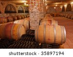 whine barrels in a cellar | Shutterstock . vector #35897194