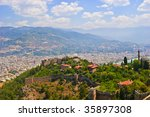 aerial view on alanya fortress... | Shutterstock . vector #35897308