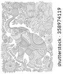 vector decorative fantasy... | Shutterstock .eps vector #358974119