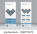 roll up banner stand template.... | Shutterstock .eps vector #358975475
