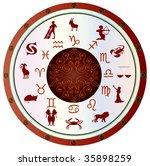 astrological symbol zodiac ... | Shutterstock . vector #35898259