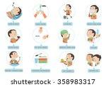 child flu prevention in a... | Shutterstock .eps vector #358983317