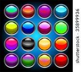 aqua icons for web | Shutterstock .eps vector #35899936