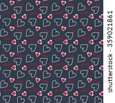 a valentine seamless heart and...   Shutterstock .eps vector #359021861