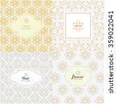 vector mono line graphic design ... | Shutterstock .eps vector #359022041