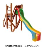 a slide with wooden ladder | Shutterstock . vector #35903614