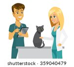 cartoon veterinarian and vet... | Shutterstock .eps vector #359040479