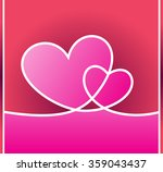 valentines card with heart | Shutterstock .eps vector #359043437