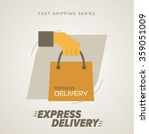 express delivery icon  cargo... | Shutterstock .eps vector #359051009