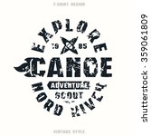 adventure on canoe badge....   Shutterstock .eps vector #359061809