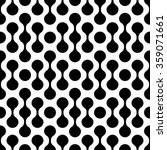 black and white  vector pattern | Shutterstock .eps vector #359071661