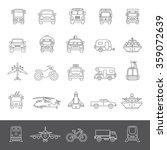 line icons   transportation | Shutterstock .eps vector #359072639