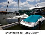 a marina with small... | Shutterstock . vector #35908594