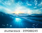 design template with underwater ... | Shutterstock . vector #359088245