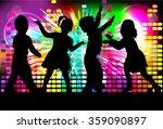 children silhouettes | Shutterstock .eps vector #359090897
