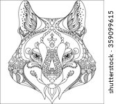 abstract wolf.ornate isolated... | Shutterstock .eps vector #359099615