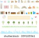 vector city illustration | Shutterstock .eps vector #359105561