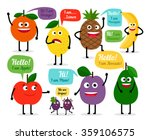 set of colored fruits for kids | Shutterstock .eps vector #359106575