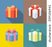 vector colorful present box... | Shutterstock .eps vector #359106941