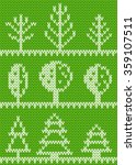 seamless knitted pattern with... | Shutterstock .eps vector #359107511
