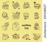 vector doodle set of handmade... | Shutterstock .eps vector #359108027