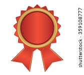 gold the winner ribbon award  ... | Shutterstock .eps vector #359108777