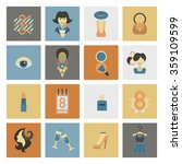 womans day icon set | Shutterstock .eps vector #359109599