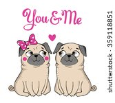 valentines day greeting card... | Shutterstock .eps vector #359118851