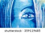 graffiti girl portrait | Shutterstock . vector #359119685