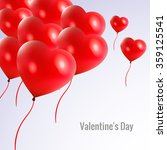 happy valentine's day card with ... | Shutterstock .eps vector #359125541