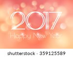 happy new year 2017 card with... | Shutterstock .eps vector #359125589