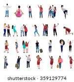 """collection """" back view people """"....   Shutterstock . vector #359129774"""