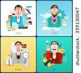 emotion design concept set with ... | Shutterstock .eps vector #359130047